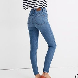 "11"" High-Rise Madewell Skinny Jeans"